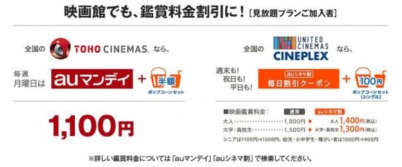 映画館が割引になるサービス