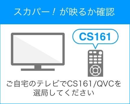 CS161のQVCチャンネル