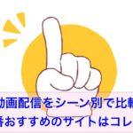 動画配信シーン別