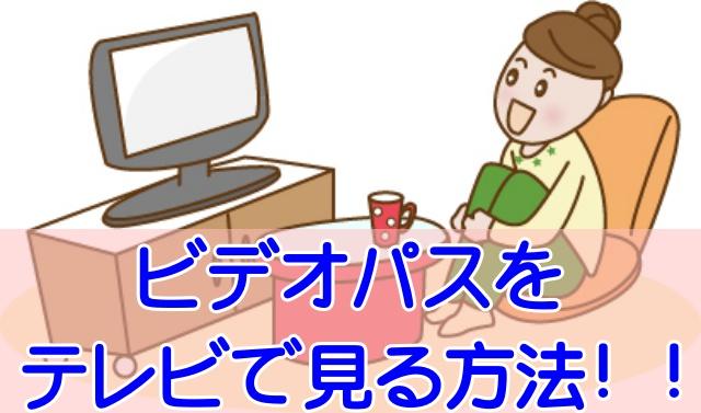 ビデオパス テレビ見てる女性