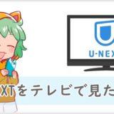 U-NEXTをテレビの大画面で楽しむ