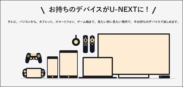 U-NEXTが見られるデバイス
