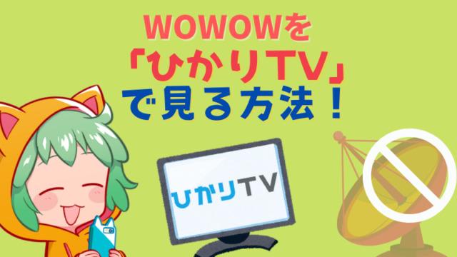 2,「ひかりTVを使って」見る方法