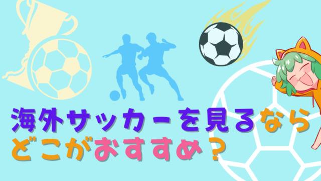 海外サッカーを見るならどこのサービスがおすすめ?