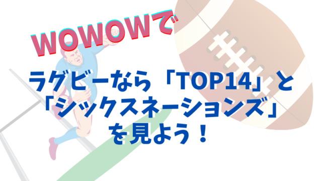 4、ラグビーなら「TOP14」と「シックスネーションズ」