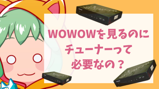 【納得!】WOWOWを見るのにチューナーって必要なの?
